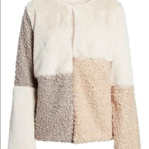 Sam Edelman Patchwork Faux Fur Coat